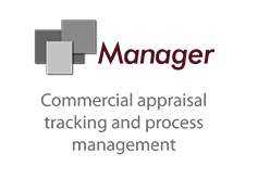 Manager commercial appraisal tracking and process management logo